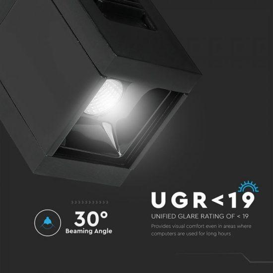 V-TAC LED MÁGNESES LINEÁR SPOT VILÁGÍTÁS / 1W / DC 24V / meleg fehér - 3000K / fekete / VT-4141 7958
