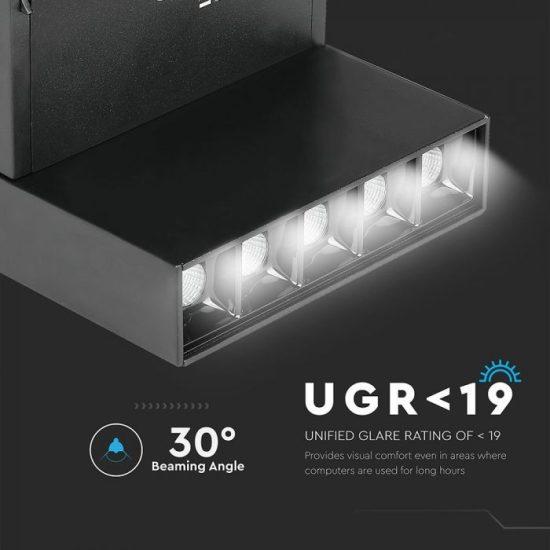 V-TAC LED DÖNTHETŐ MÁGNESES LINEÁR SPOT VILÁGÍTÁS / 10W / DC 24V / nappali fehér - 4000K / fekete / VT-4210 7963