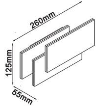 V-TAC LED DESIGN FALI LÁMPA / IP20 / szürke / 12W VT-712 8206