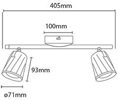 V-TAC LED BELTÉRI FALI LÁMPA / IP20 / fekete / 12W VT-812 8255