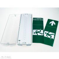 V-TAC LED vészkijárat jelző lámpa /  3W / 16 LED / IP65 / VT-523 Hideg fehér  8311
