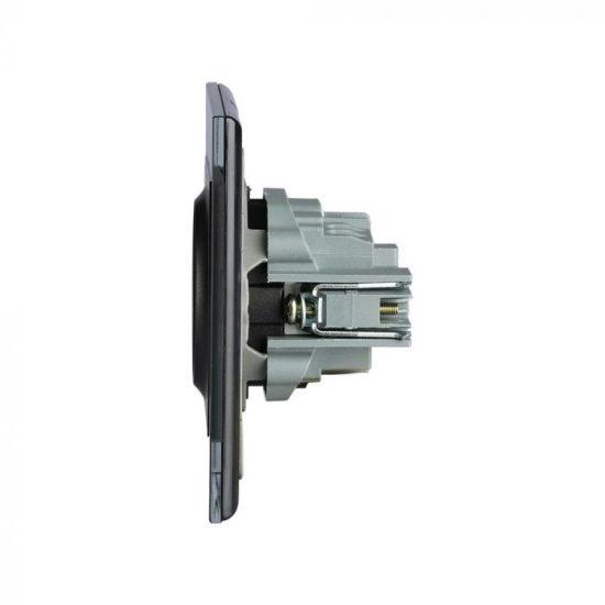 V-TAC EU KONNEKTOR / süllyeszthető / 16A / fekete / IP20 VT-5711 8399