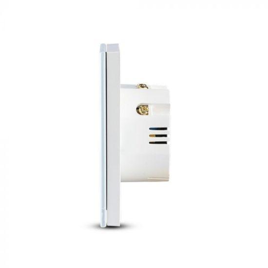 V-TAC LED SMART HOME ÉRINTŐGOMBOS KAPCSOLÓ / wifis vezérlés  / 3 érintőgomb / fehér /  VT-5005 8419