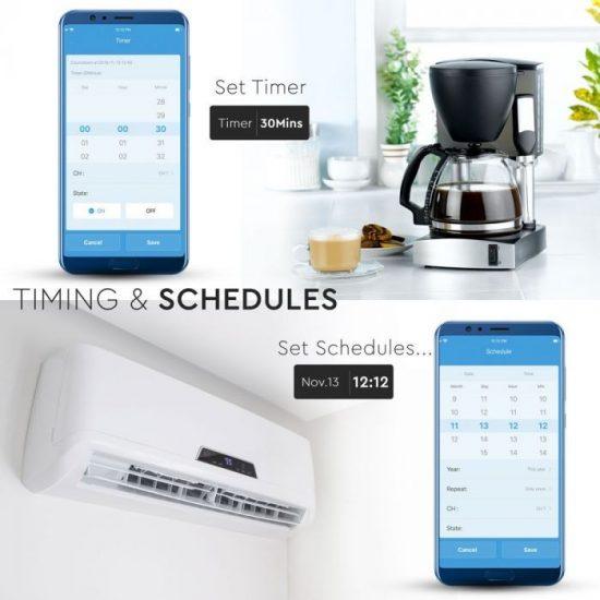 V-TAC LED SMART HOME ONLINE KAPCSOLÓ / wifis vezérlés  /  VT-5008 8422