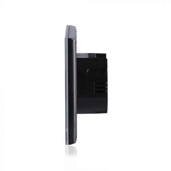 V-TAC LED SMART HOME ÉRINTŐGOMBOS KAPCSOLÓ / wifis vezérlés  / 2 érintőgomb / fekete /  VT-5004 8424
