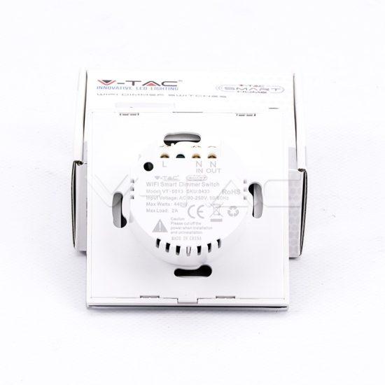 V-TAC LED SMART HOME ÉRINTŐGOMBOS KAPCSOLÓ / wifis vezérlés  / fényerőszabályzó / fehér /  VT-5013 8433