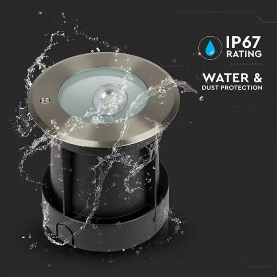 V-TAC LED SÜLLYESZTHETŐ KERTI LÁMPA / 40cm vezetékkel / nappali fehér - 4000K / kör / 8W / fekete / VT-7679 8621