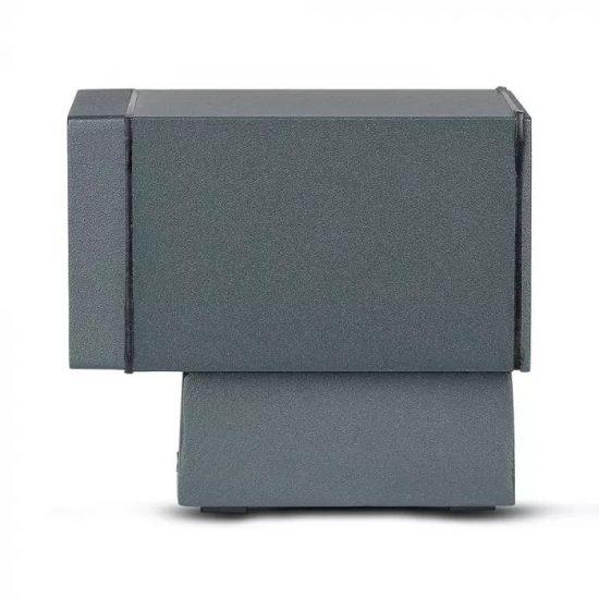 V-TAC LED EGYIRÁNYÚ FALI LÁMPA / sötét szürke / GU10 foglalattal / max. 20W / IP44 / VT-841 8626