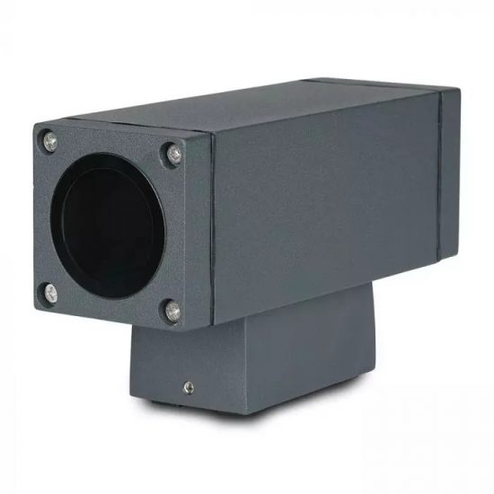 V-TAC LED KÉTIRÁNYÚ FALI LÁMPA / sötét szürke / GU10 foglalattal / max. 20W x 2 / IP44 / VT-842 8627