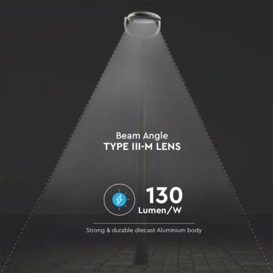 V-TAC LED KERTI-UTCAI LÁMPA / hideg fehér - 5700K / 50W / szürke / VT-895 8679