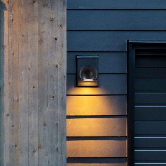 V-TAC LED SPOT OLDALFALI BETONKERET / G9 / 1-foglalat / sötét szürke / gömb / fix / VT-891 8690