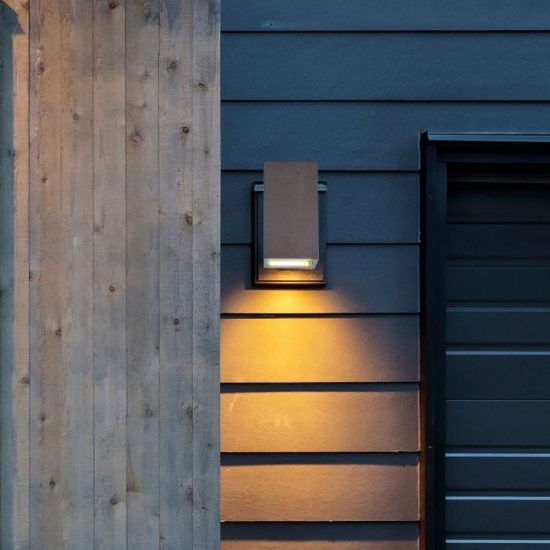 V-TAC LED SPOT OLDALFALI BETONKERET / G9 / 1-foglalat / világos szürke / szögletes / fix / VT-893 8695