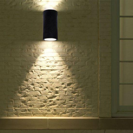 V-TAC LED SPOT OLDALFALI BETONKERET / G9 / 2-foglalat / sötét szürke / kerek / fix / VT-894 8696