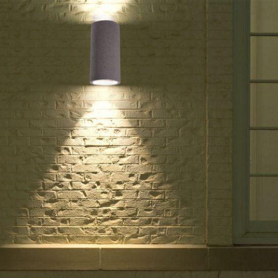 V-TAC LED SPOT OLDALFALI BETONKERET / G9 / 2-foglalat / világos szürke / kerek / fix / VT-894 8697