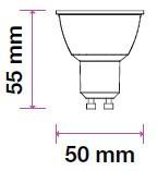 V-TAC LED SPOT / GU10 / 8W / 110° / 3000K - meleg fehér / 720lumen / Samsung chip / VT-292 872