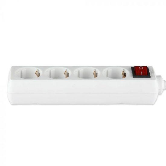 V-TAC HOSSZABBÍTÓ-ELOSZTÓ / 4 csatlakozó-kapcsoló / fehér / 16A / 5m VT-1114 8765
