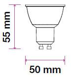 V-TAC LED SPOT/ GU10 / Samsung chip / 38°/ 8W /  VT-291 nappali fehér 876