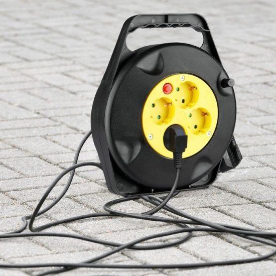V-TAC KÁBELDOB-ELOSZTÓ / 4 csatlakozó / 3G1,5mm2 /fekete-sárga / 16A / 10m VT-6002 8781
