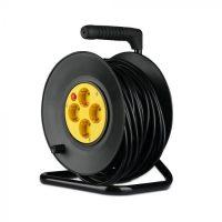 V-TAC KÁBELDOB-ELOSZTÓ / 4 csatlakozó / 3G1,5mm2 / fekete-sárga / 16A / 25m VT-6003 8782