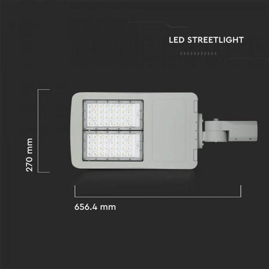 V-TAC LED DIMMELHETŐ UTCAI VILÁGÍTÓ / 100W / IP65 / szürke / nappali fehér - 4000K / 14000lumen / Samsung chip / VT-102ST 883