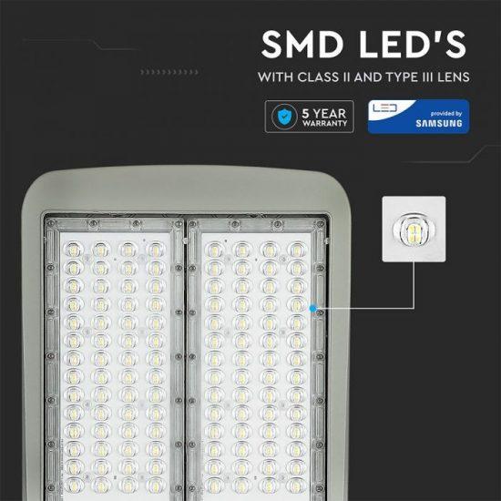 V-TAC LED DIMMELHETŐ UTCAI VILÁGÍTÓ / 100W / IP65 / szürke / hideg fehér - 5700K / 14000lumen / Samsung chip / VT-102ST 884