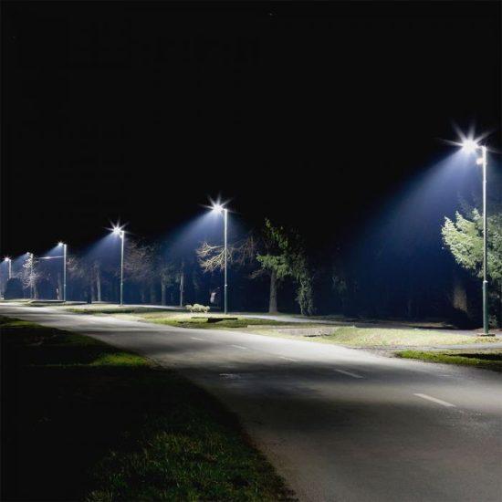 V-TAC LED DIMMELHETŐ UTCAI VILÁGÍTÓ / 120W / IP65 / szürke / nappali fehér - 4000K / 16800lumen / Samsung chip / VT-122ST 885
