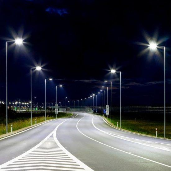 V-TAC LED DIMMELHETŐ UTCAI VILÁGÍTÓ / 150W / IP65 / szürke / nappali fehér - 4000K / 21000lumen / Samsung chip / VT-152ST 887