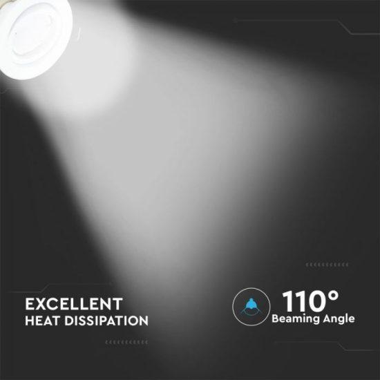 V-TAC LED SPOT CSOMAG (3db) / GU10-keret-csatlakozó / 5W / 110° / meleg fehér - 3000K / 400lumen / VT-3333 8881