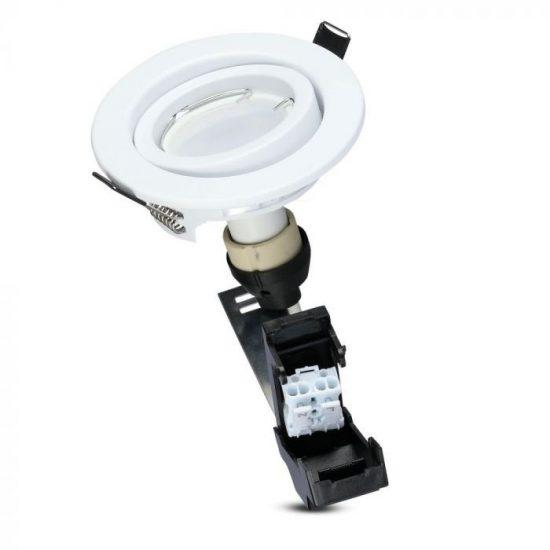 V-TAC LED SPOT CSOMAG (3db) / GU10-keret-csatlakozó / 5W / 110° / nappali fehér - 4000K / 400lumen / VT-3333 8882