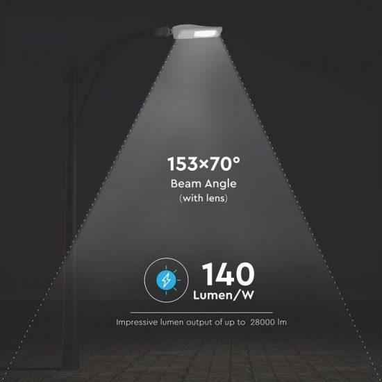 V-TAC LED DIMMELHETŐ UTCAI VILÁGÍTÓ / 200W / IP65 / szürke / hideg fehér - 5700K / 28000lumen / Samsung chip / VT-202ST 890