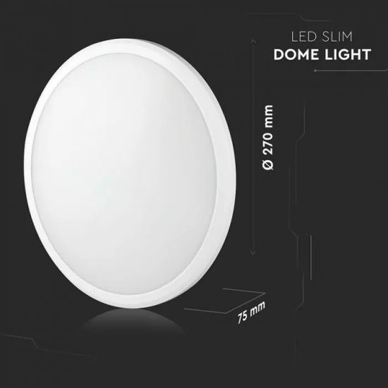 V-TAC LED MENNYEZETI LÁMPA / Samsung chip / fehér / 12W / VT-12S 936