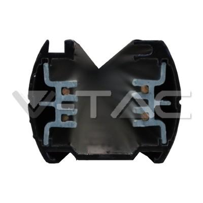 V-TAC LED áramvezető sínes lámpatestekhez / 1 méter / fekete / 9944