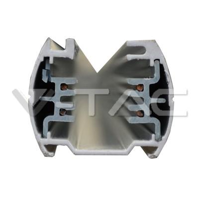 V-TAC LED áramvezető sínes lámpatestekhez / 2  méter / fehér / 9955