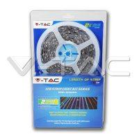 V-TAC RGB színes beltéri LED szalag szett 5m (30LED/m)VT-5050